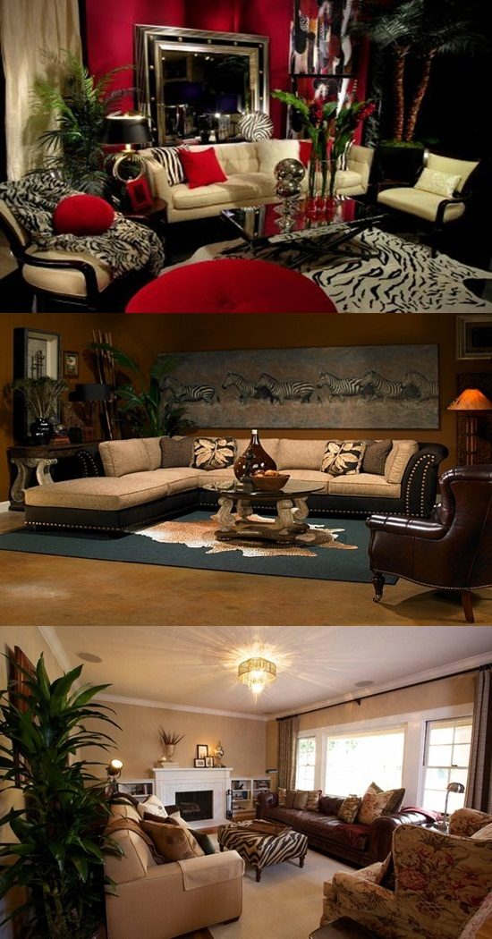 living room curtain pics rent to own sets african safari ideas