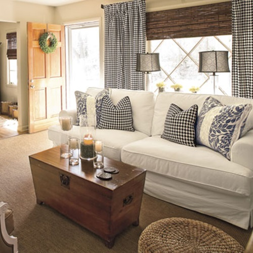 Living Room Curtain Ideas To Perfect Living Room Interior: Cottage Living Room Curtain Ideas