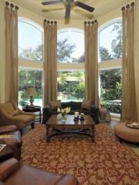 Mediterranean Style Living Room Curtains - Interior design