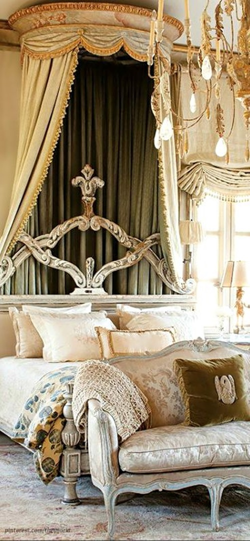 kitchen wall clock counter organization ideas elegant french boudoir-themed bedroom style
