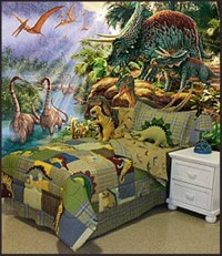 Magical Kids Room with a Dinosaur Theme - Interior design