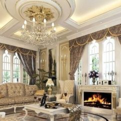 Formal Living Room Curtains Paints Chic And Luxurious Large French Style Ideas ...