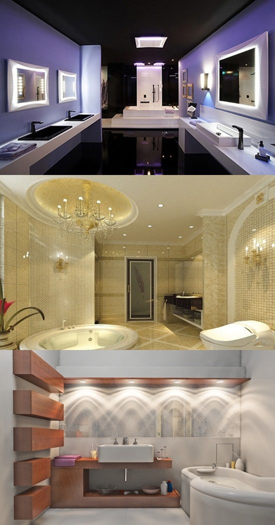 impressive modern bathroom ceiling and