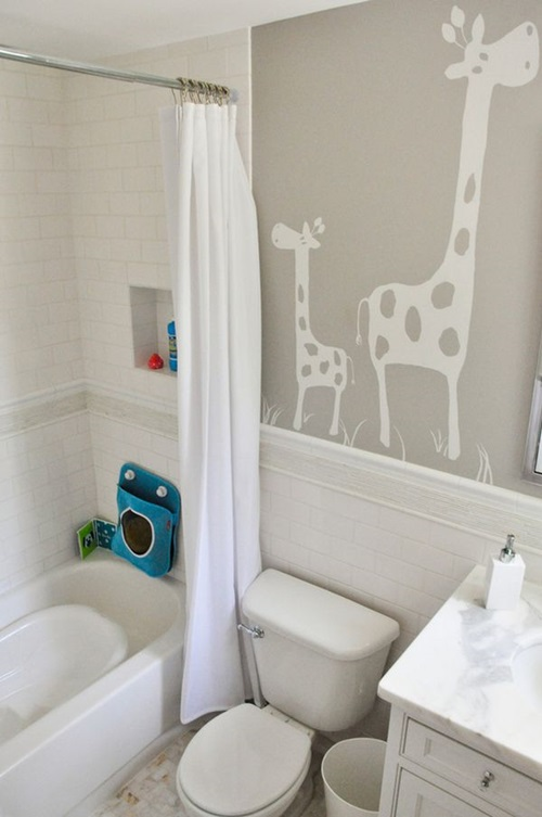 Enjoying And Relaxing Modern Young Kids Bathroom