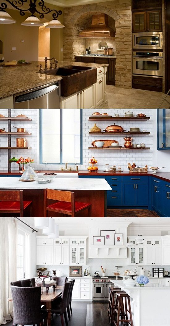 copper kitchen faucet best cabinet manufacturers have a gorgeous look with accents ...