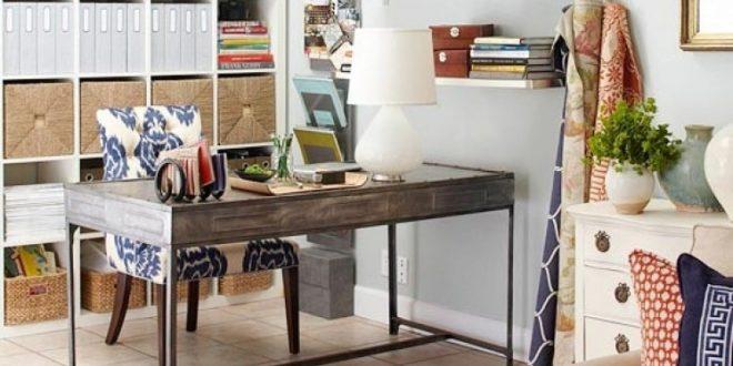 Obtener un escritorio práctico y elegante oficina en el hogar para su sala de estar