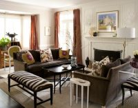 Intimate and Minimalist Traditional Family Room Decorative ...