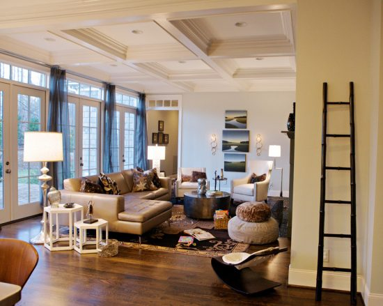 Intimate And Minimalist Traditional Family Room Decorative Tips By Heather Garrett Interior