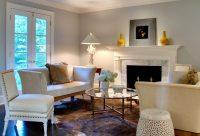Dramatic Philadelphian Living Room and Garden by Leslie ...