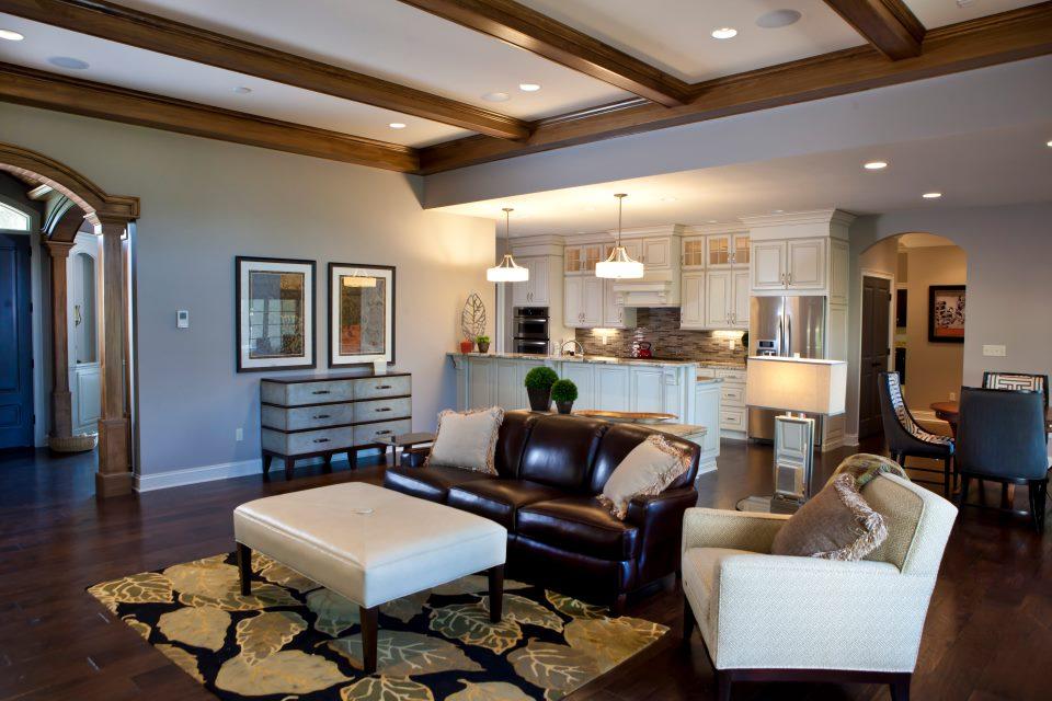 living room furniture design blue sofa residential interior - associates
