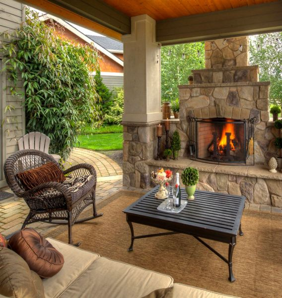 outdoor living space with fireplace TOP 12 STUNNING FIREPLACES FOR LUXURY OUTDOOR LIVING