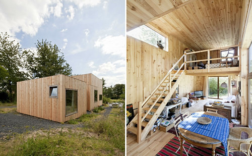 Wooden Boxes Humble Belgian Abode Is Like A Tiny House On