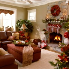 Pictures Of Living Room Decorated For Christmas Chairs And Ottomans Nine Ideas How To Welcome The Spirit Interior Design Holiday Decorating