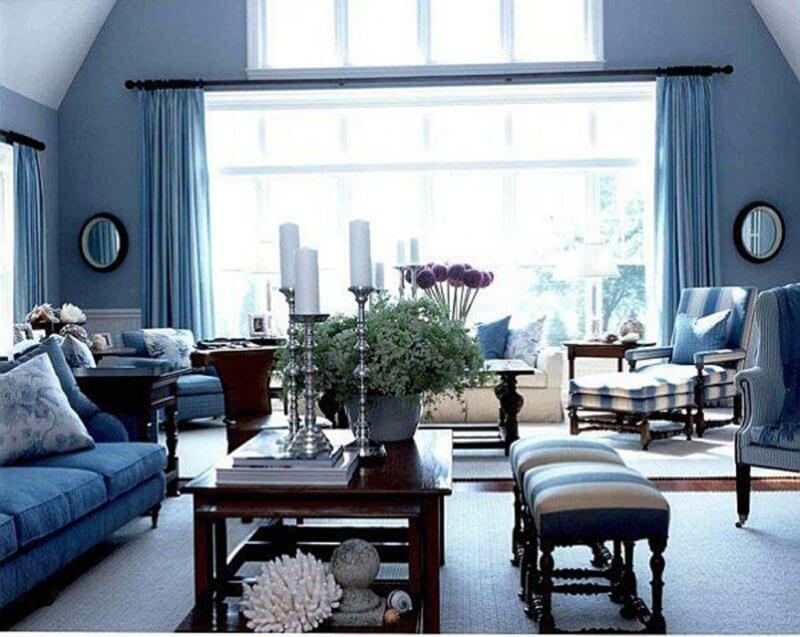 Grey Blue Living Room Decor Novocom Top