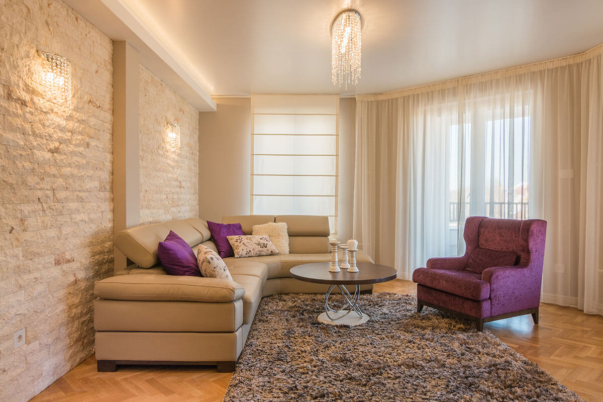 Before and after Renovation of old apartment into the