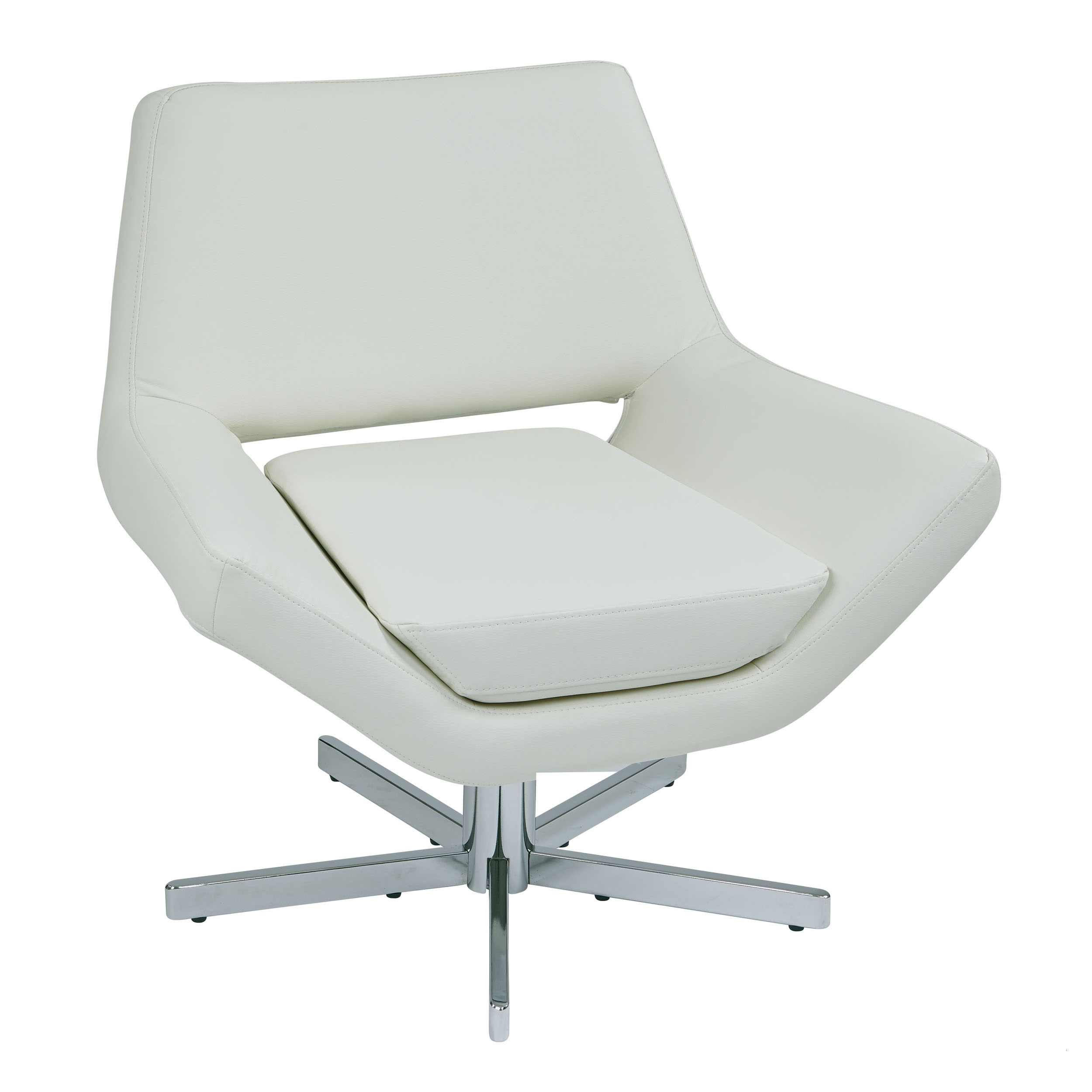 White Leather Swivel Chair The Look For Less Modern Leather Swivel Chairs