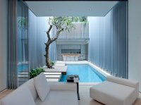 Swimming Pool in interior courtyard, Singapore - Interior ...