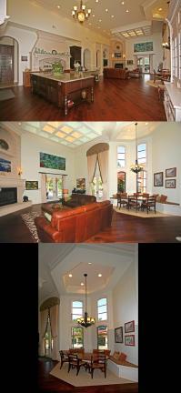 Massive Italian Villa-style open layout kitchen-living ...