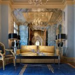 Gold Blue Interior Designs For Luxury Home Feeling