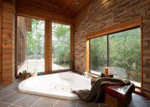 Luxury Bathroom Designs With Sunken Bathtub