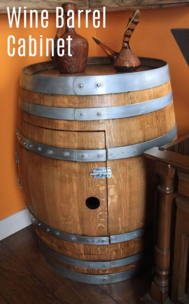 15 Old Wine Barrels DIY Projects For A Rustic Look