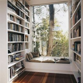 Amazing Reading Nooks That Will Inspire To ⊶ Via Roomizy #HomeLibraryDesign