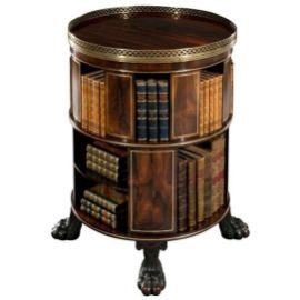 Antique Circular Bookcase ⊶ Via 1stdibs #BookStorage