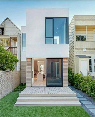 Awesome Small Contemporary House Designs ⊶ Via Hoomdsgn #FacadeDesign