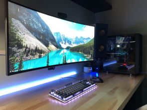 Battlestation Finally Complete First Pc After ☼ Via Reddit #Gaming Room Setup #Quarto Gamer #Playstation Room #xbox Room