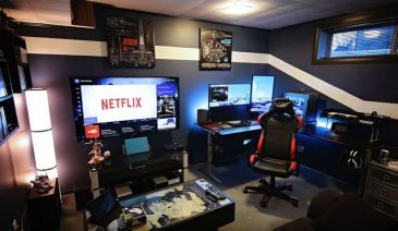 Best Video Game Room Ideas Cool Gaming ☼ Via Homeideasreview #Ps4 Gaming Setup #Dream Rooms #Gaming Setup Xbox