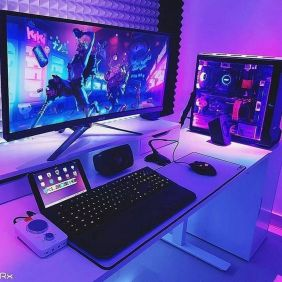 Best Video Game Room Ideas For Gamers Guide ☼ Via Unscripted360 #Ps4 Gaming Setup #Dream Rooms #Gaming Setup Xbox-12