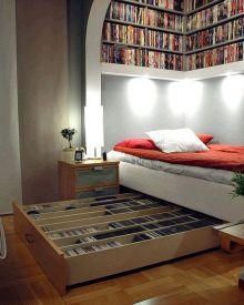 Book Storage In Tiny Houses ⊶ Via Bookriot #BookStorage
