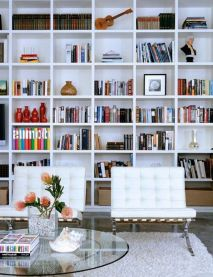 Charming Built In Bookshelves ⊶ Via Sugarandcharm #DreamLibrary