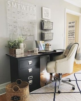 Charming Farmhouse Office Decor Ideas 1 - Homeisd.com