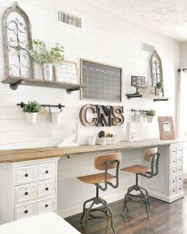 Charming Farmhouse Office Decor Ideas - Homeisd.com