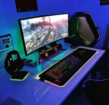 Check Out Full Collection ☼ Via Instagram #Ps4 Gaming Setup #Dream Rooms #Gaming Setup