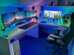 Cool Ultimate Game Room Design Ideas ☼ Via Livingadore #Ps4 Gaming Setup #Dream Rooms #Gaming Setup Xbox