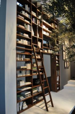 Creative Ideas For Using Bookshelves As Room ⊶ Via Bigdiyideas #HomeLibraryDesign