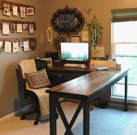 Decorating Home Office In Farmhouse Style - Elonahome.com