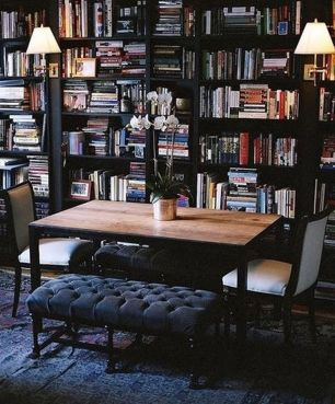 Design Crush Dine In Libraries ⊶ Via Centsationalgirl #BookStorage