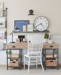 Farmhouse Style Home Office - Littlevintagenest.com