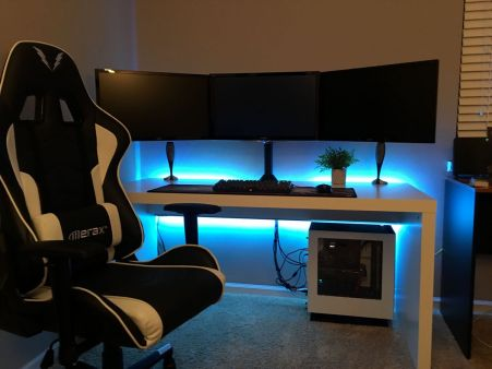 Gaming Setup ☼ Via Imgur #Gaming Room Setup #Quarto Gamer #Playstation Room #xbox Room