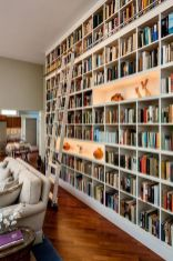 Home Library Design Ideas With Stunning ⊶ Via Homedit #BookshelfIdeas