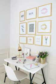 How To Create A Gallery Wall Without Hammer - Littlebigbell.com
