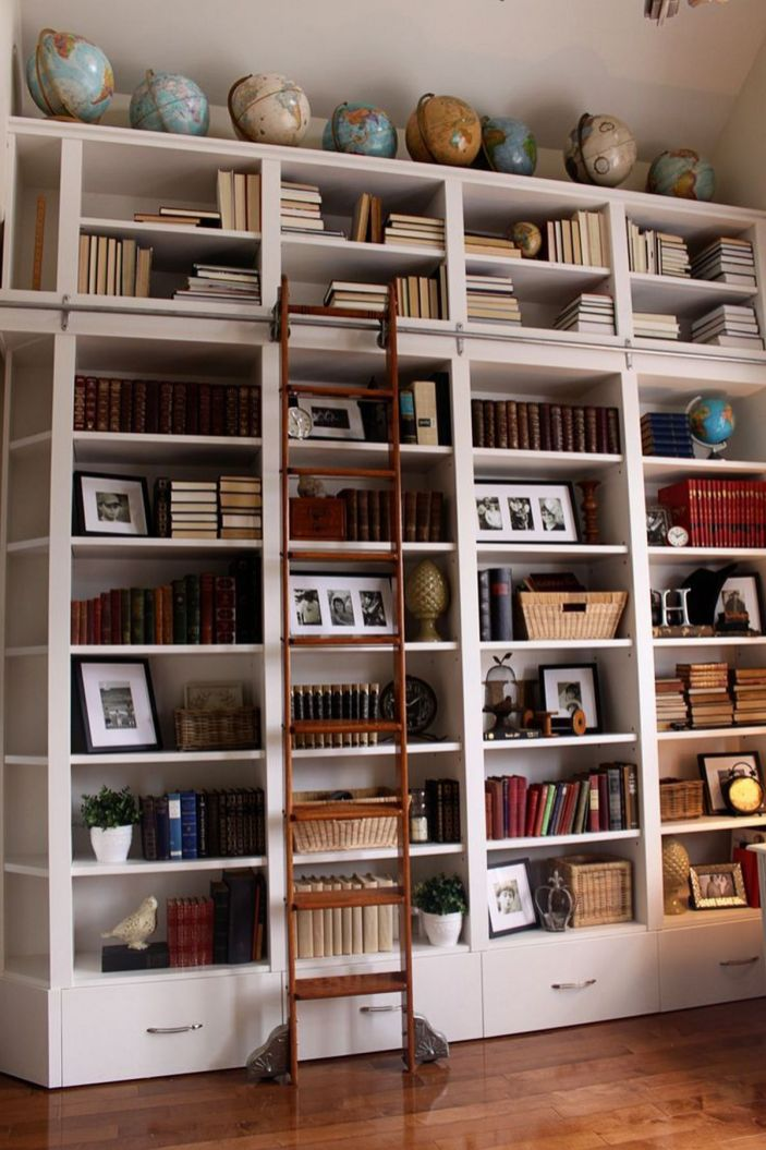 Interior Design Trend Globes Learn Why What ⊶ Via Carlaaston #DreamLibrary