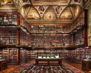 Reinhard Grner Morgan Library Ii New York ⊶ Via 1stdibs #BookshelfIdeas
