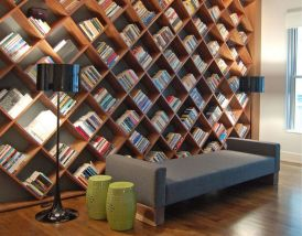 Shimna Beam Upholstered Daybed With Solid Wall ⊶ Via Sentientstore #BookStorage