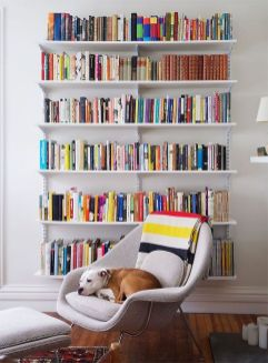 Stylish Bookshelves Design Ideas For Your Room ⊶ Via Homystyle #DreamLibrary