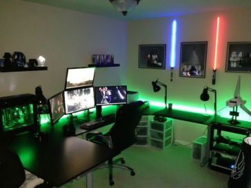 The Force Awakens Video Game Room ☼ Via Homebnc #Gaming Room Setup #Quarto Gamer #Playstation Room #xbox Room