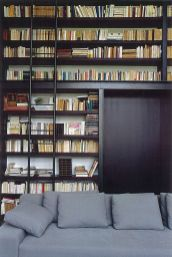 The Library Look ⊶ Via Designstyle #HomeLibraryDesign